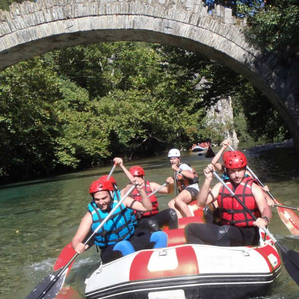 Rafting at Voidomatis river in Epirus, Greece